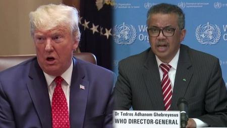 """트럼프, WHO 맹비난...""""중국 중심의 늦장대응과 정책 혼선"""""""