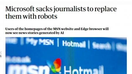 MSN 뉴스 편집 인공지능(AI)으로 대체...직원 50여 명 해고