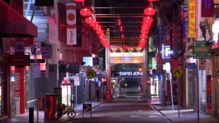 호주 멜버른, 코로나19 확산에 야간통행 금지령