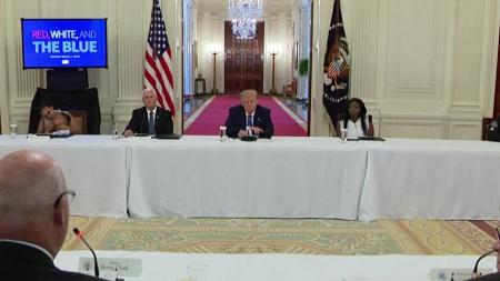 백악관, '집단 면역' 전략 검토...회의에서 지지선언문 인용