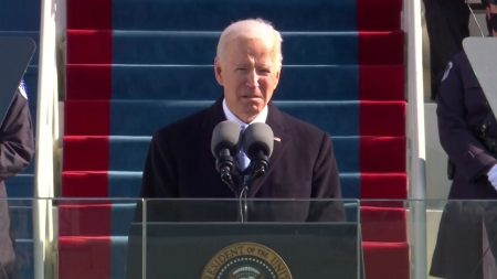 """美 바이든 시대 개막...""""모든 미국인의 대통령"""""""