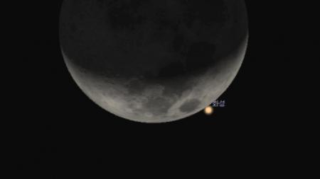 국립과천과학관, 17일 달이 화성 가리는 현상 생중계