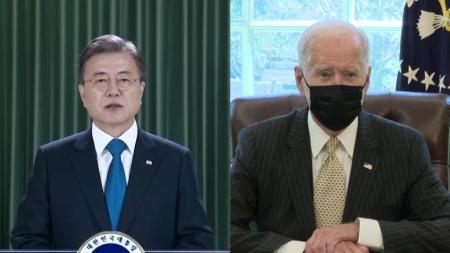 문 대통령, 바이든과 첫 정상회담 다음 달 하순 개최
