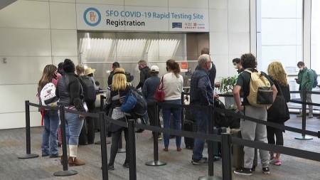 美 국제선 승객 코로나19 자가 검사 허용