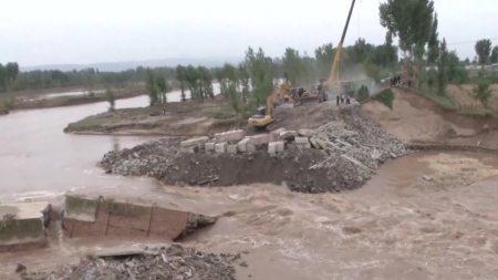 中 산시성, 홍수로 사망·실종 18명...9천억 원 피해