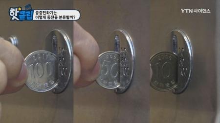 공중전화기는 어떻게 동전을 분류할까?