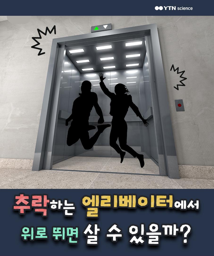 추락하는 엘리베이터에서 위로 뛰면 살 수 있을까? 이미지