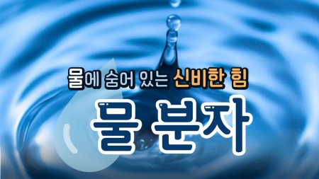 물에 숨어 있는 신비한 힘, '물 분자'