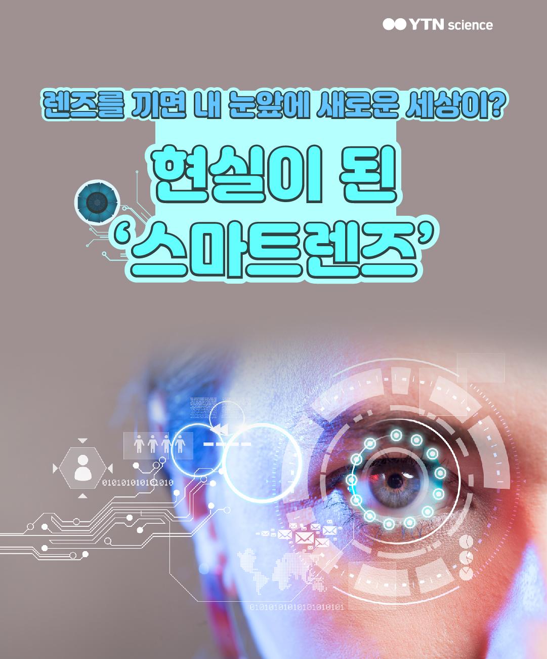 렌즈를 끼면 내 눈앞에 새로운 세상이? 현실이 된 '스마트렌즈' 이미지