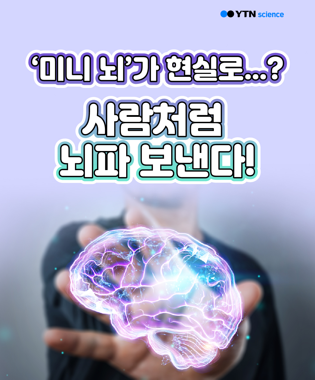 '미니 뇌'가 현실로...? 사람처럼 뇌파 보낸다! 이미지