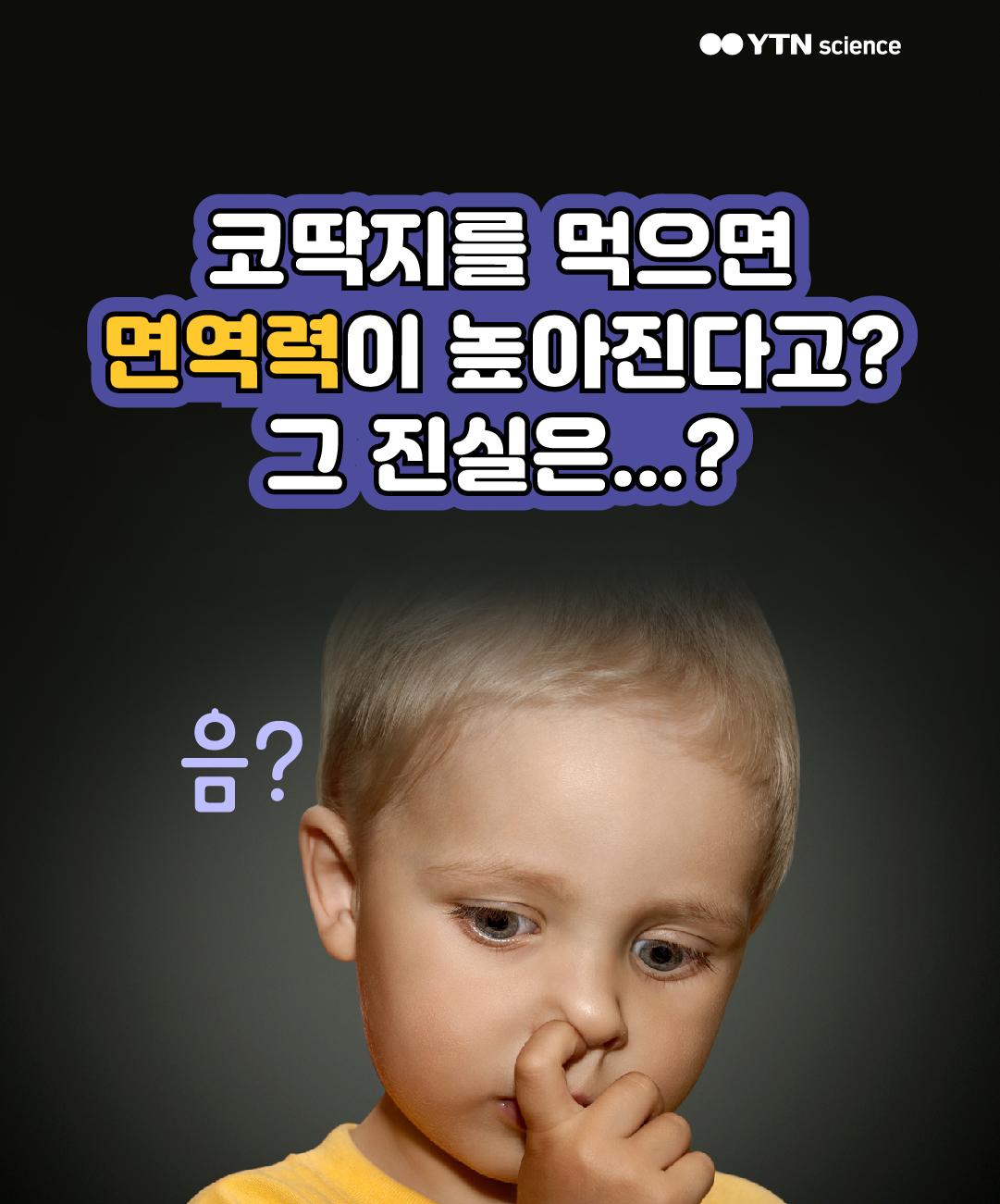 코딱지를 먹으면 면역력이 높아진다고? 그 진실은...? 이미지
