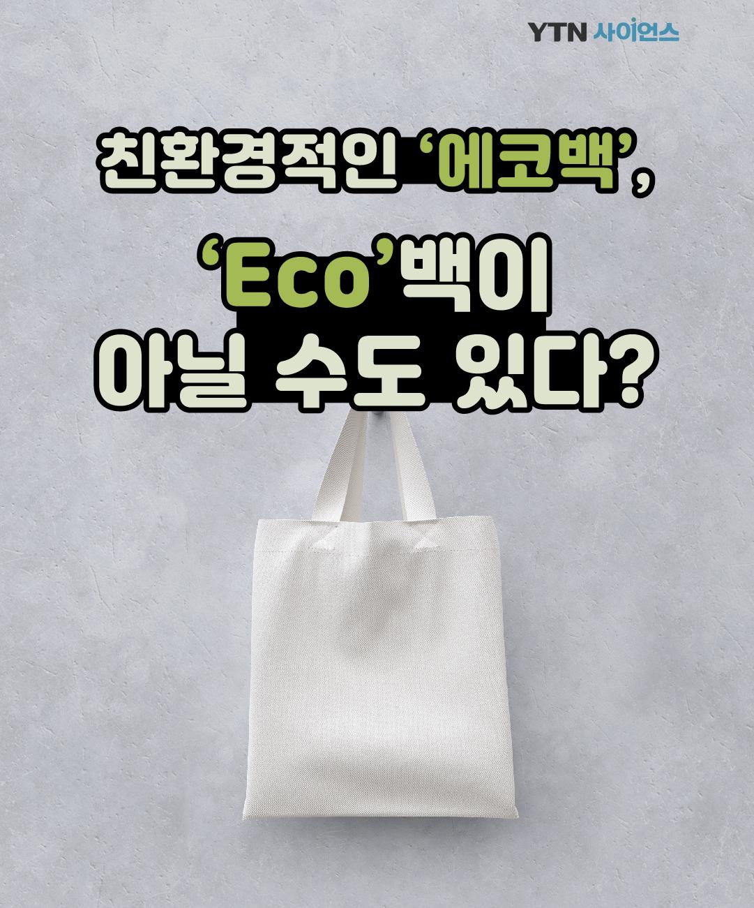 친환경적인 '에코백', 'Eco'백이 아닐 수도 있다? 이미지