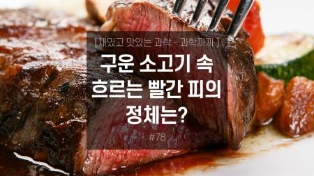 구운 소고기 속 흐르는 빨간 피의 정체는?