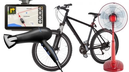내비게이션, 자전거, 헤어드라이어, 선풍기