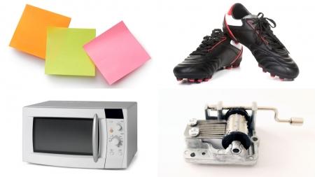 포스트잇, 축구화, 전자레인지, 오르골