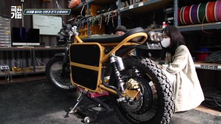 미래를 달리는 친환경 전기 오토바이!